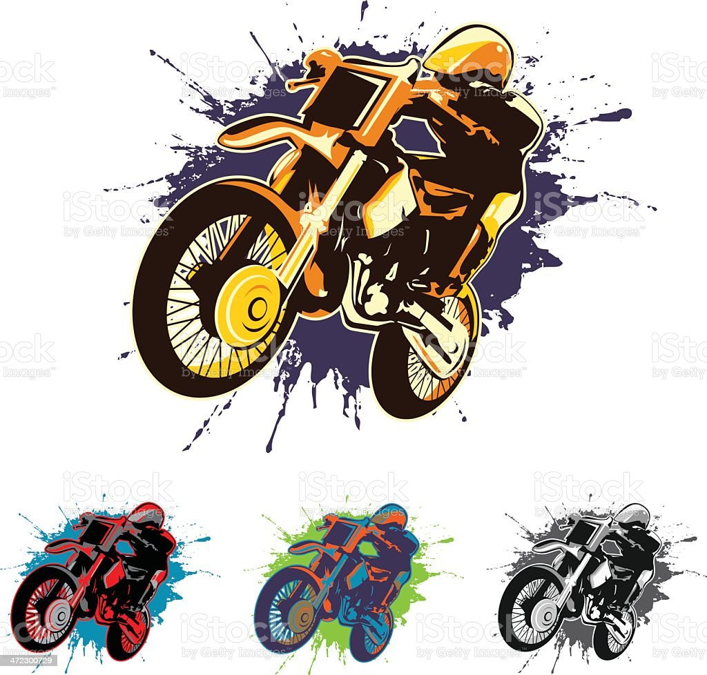 motocross vector art illustration