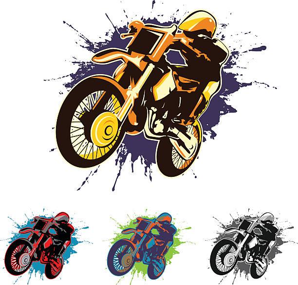motocross vector art illustration