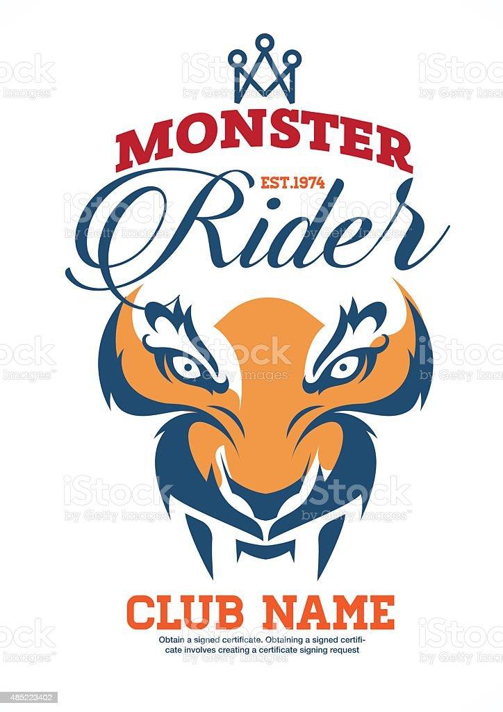 Motor logo graphic design logo sticker label arm royalty free motor