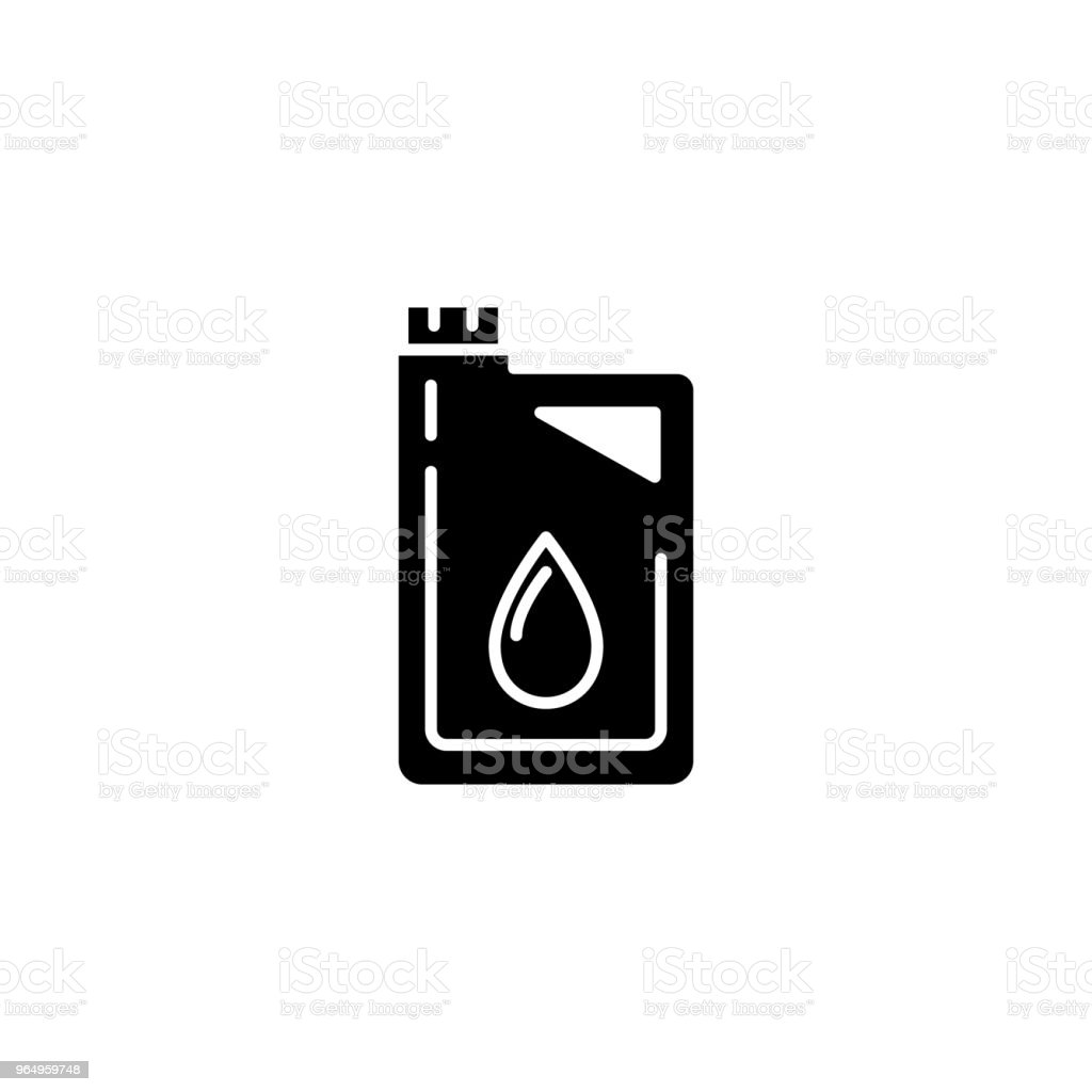 Motor Oil Black Icon Concept Motor Oil Flat Vector Symbol Sign ...