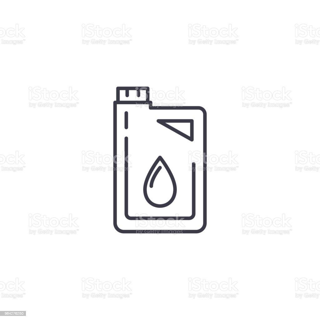 Motor Oil Linear Icon Concept Motor Oil Line Vector Sign Symbol ...