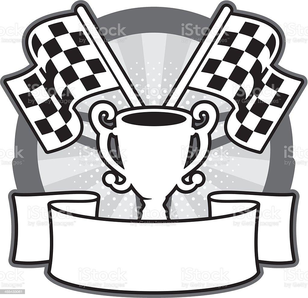 Motor Racing Banner vector art illustration