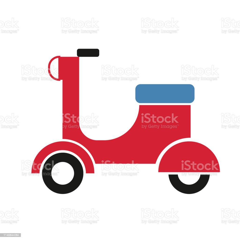 motor scooter bike simlple art geometric illustration. Icon, graphic...