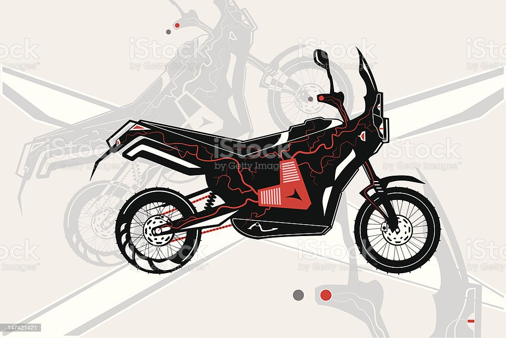 Motorbike and its heart royalty-free motorbike and its heart stock vector art & more images of art