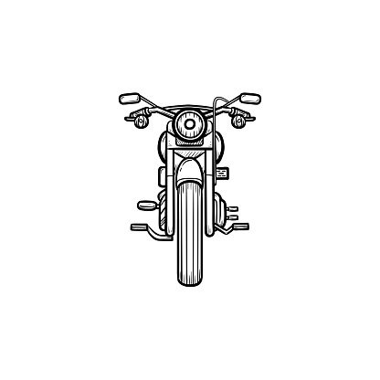 Motorbike hand drawn outline doodle icon