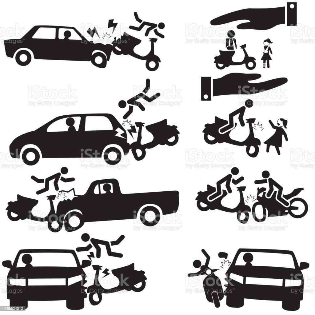motorbike insurance vector art illustration