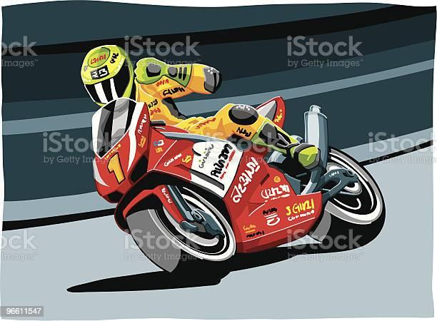 Motorbike Racing-vektorgrafik och fler bilder på Atlet