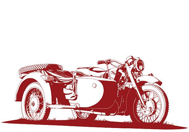 motorbike sidecar illustration motorbike sidecar illustration three wheel motorcycle stock illustrations