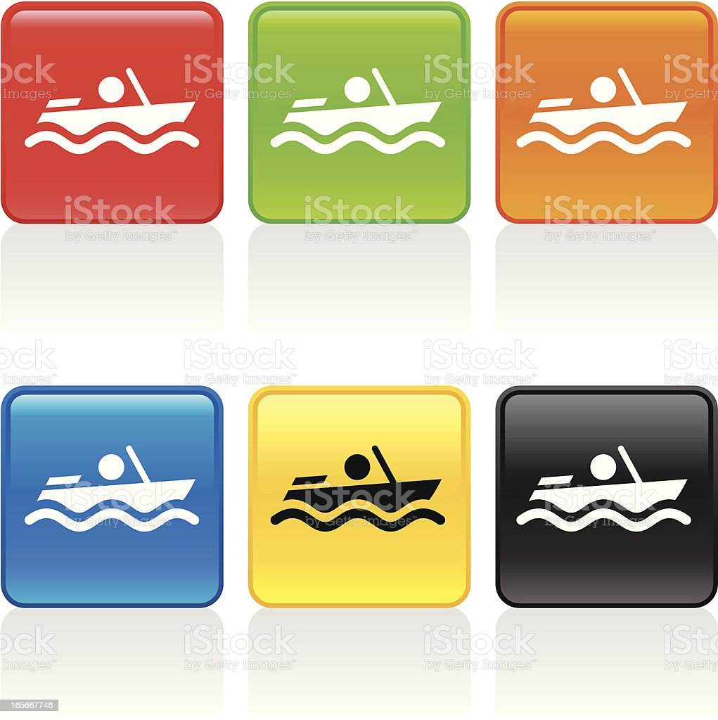 Motorboat Icon royalty-free stock vector art