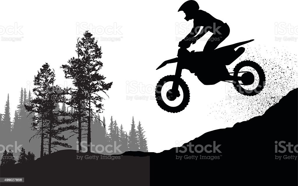 Motorcross Personal Best vector art illustration