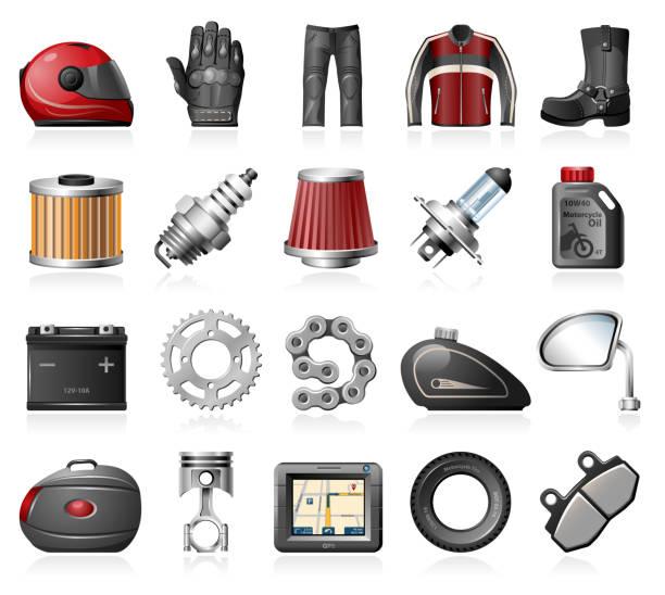 motorrad-accessoires - funktionsjacke stock-grafiken, -clipart, -cartoons und -symbole