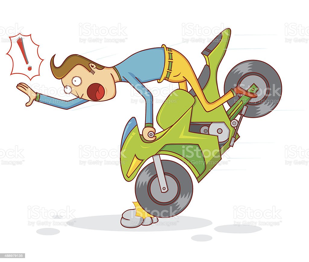 motorcycle crash clipart  Royalty Free Motorcycle Crash Clip Art, Vector Images ...