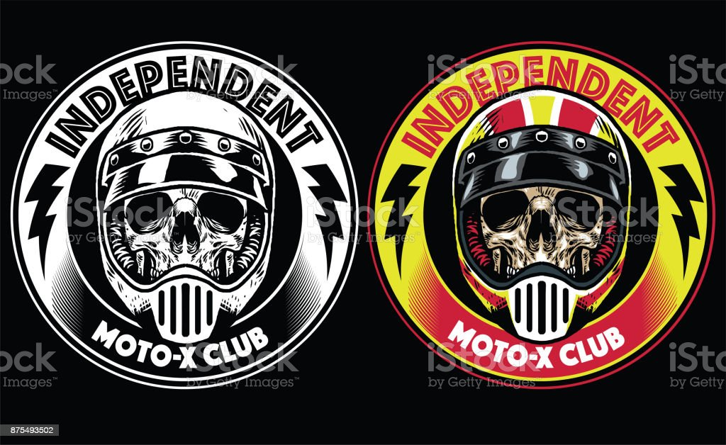 motorcycle club badge vector art illustration