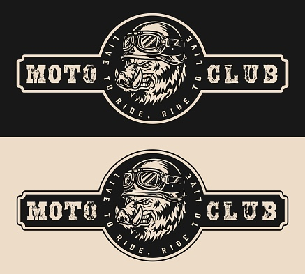 Motorcycle club logotype