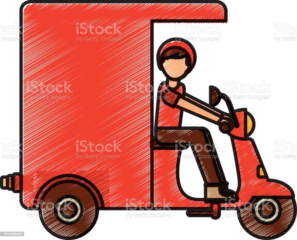 icône de véhicule de livraison moto icône de véhicule de livraison moto – cliparts vectoriels et plus d'images de affaires libre de droits