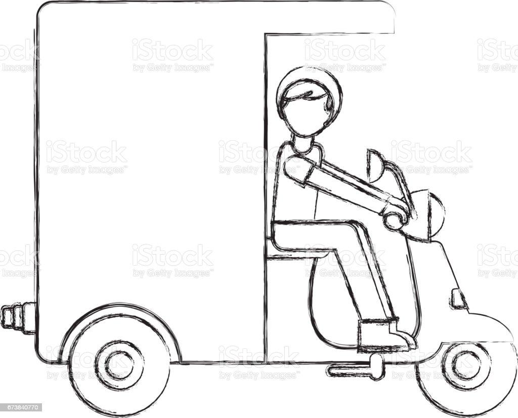 Motosiklet teslim araç simgesini royalty-free motosiklet teslim araç simgesini stok vektör sanatı & araba kullanımı'nin daha fazla görseli