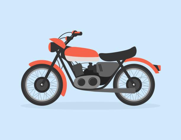 Motorcycle Flat Illustration Vintage Vector Motorcycle Flat Illustration cruiserweight stock illustrations