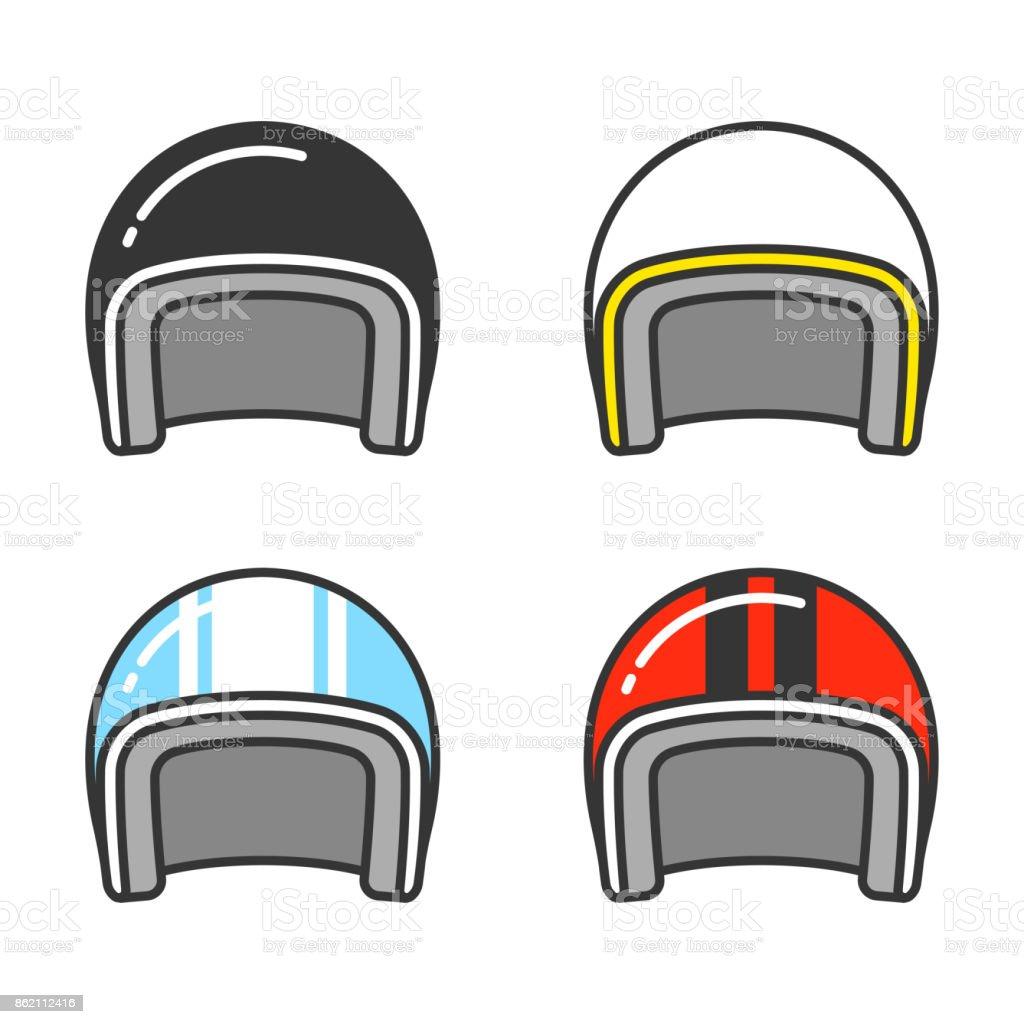 Motorcycle helmet set royalty-free motorcycle helmet set stock illustration - download image now