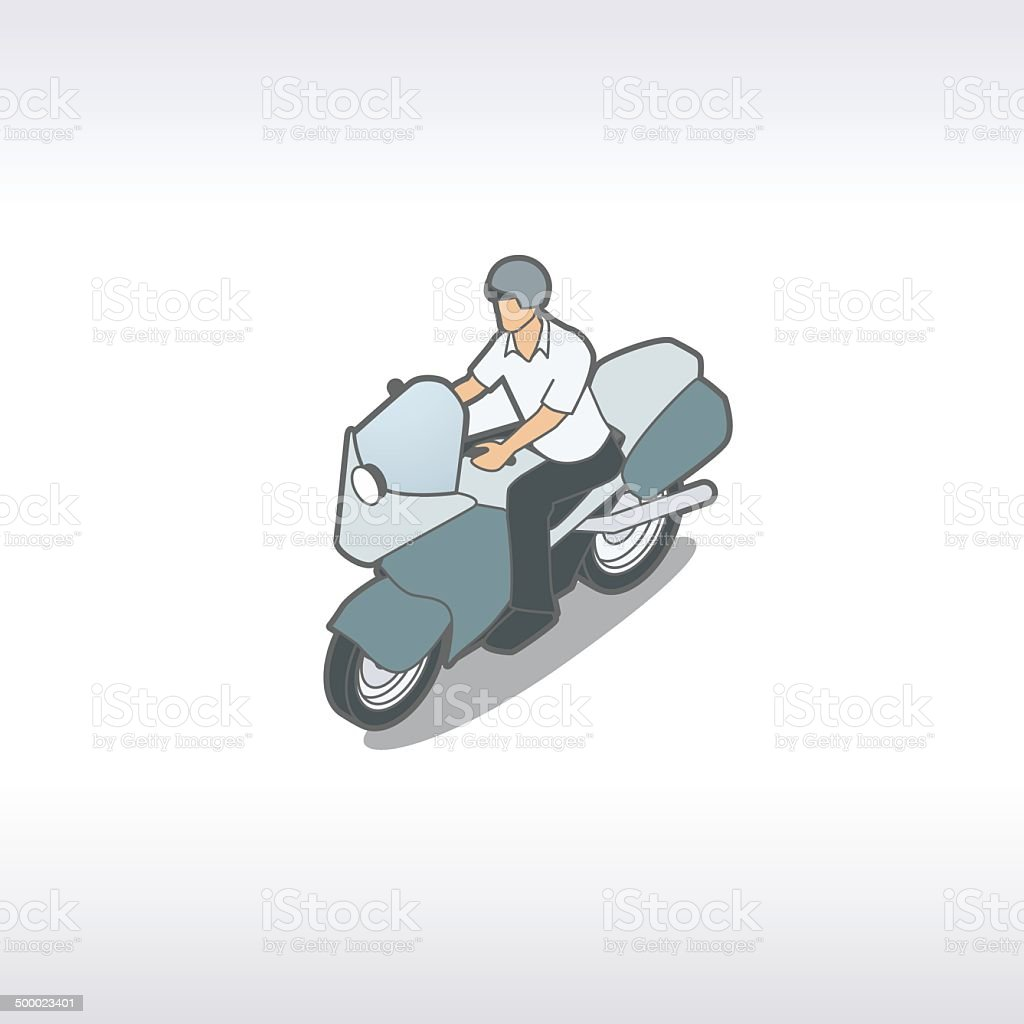 Motorcycle Illustration royalty-free stock vector art