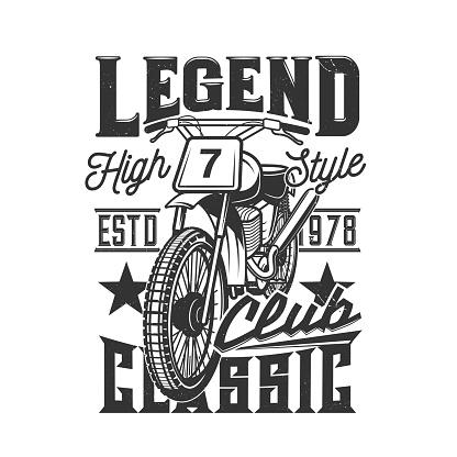 Motorcycle races club, motorbike speedway bike