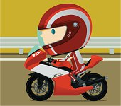 Cute style biker. Zip contains AI and hi-res jpeg.