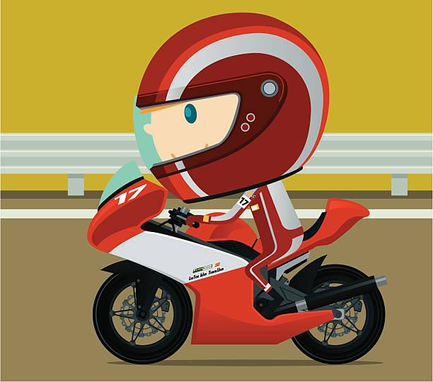 ilustrações de stock, clip art, desenhos animados e ícones de corrida de motos - helmet motorbike