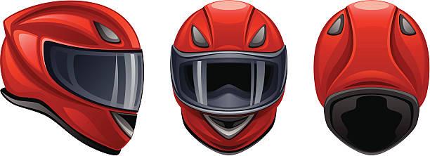 ilustrações de stock, clip art, desenhos animados e ícones de capacete de motocicleta vermelho - helmet motorbike