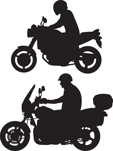 Motorcycle Rider Silhouettes
