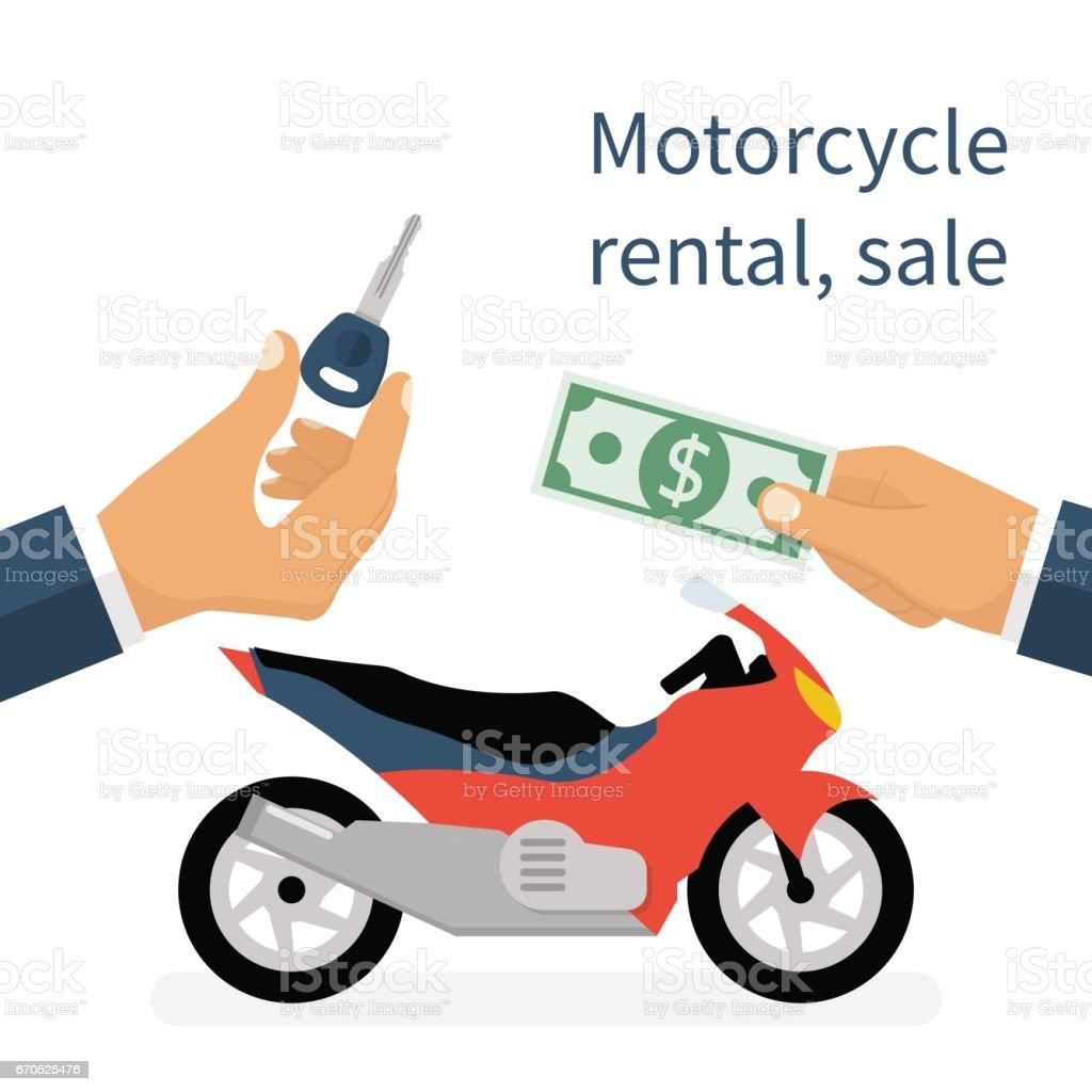 motorcycle sale rental motorbike stock vector art more images of