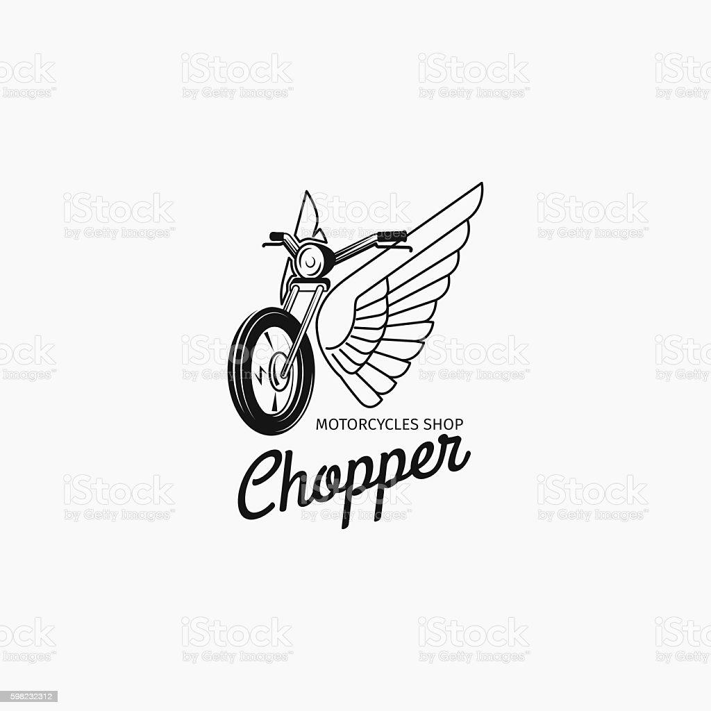 Motorcycle shop logotype or motorbike label ilustração de motorcycle shop logotype or motorbike label e mais banco de imagens de competição royalty-free