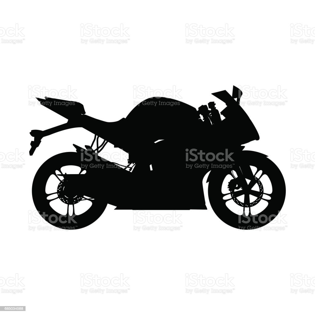Motorcycle Silhouette Sport Bike Stock Vector Art & More Images of ...