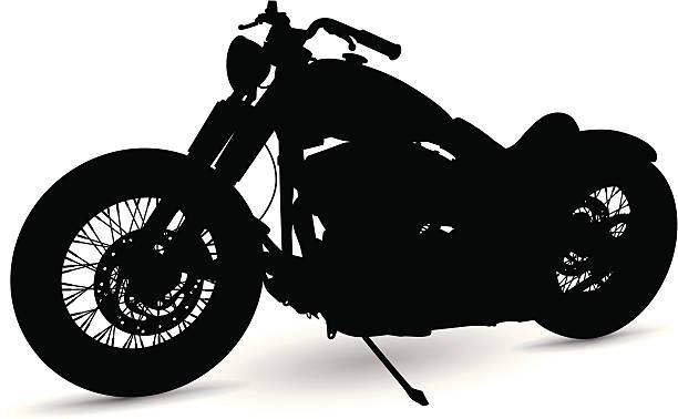 モーターサイクルシルエット - オートバイ点のイラスト素材/クリップアート素材/マンガ素材/アイコン素材