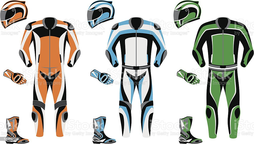 Motorcycle suit royalty-free motorcycle suit stock vector art & more images of bib overalls