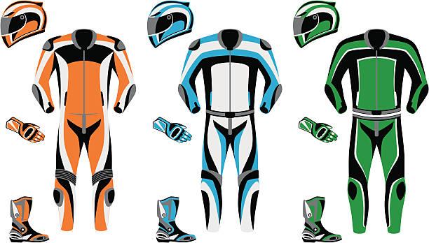 ilustrações de stock, clip art, desenhos animados e ícones de fato de motorizada - helmet motorbike