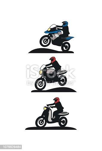 Motorbike touring design vector eps format