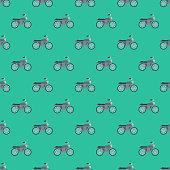 Motorcycle Transportation Seamless Pattern