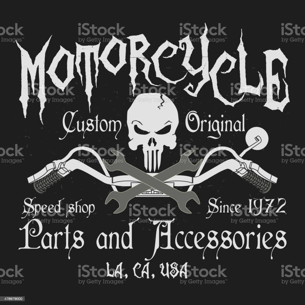 Motorcycle Typography Graphics Stock Vector Art More Images Of