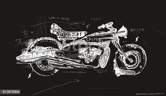 Motorcycle, which consists of a plurality of symbols