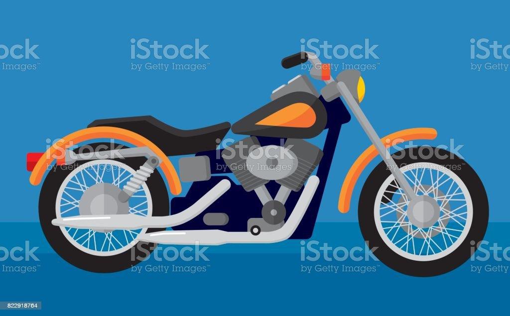 Motocicleta - ilustración de arte vectorial