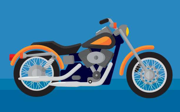 motorcycle - motorcycle stock illustrations, clip art, cartoons, & icons