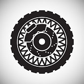 Motorcycle wheel icon on white background for graphic and web design, Modern simple vector sign. Internet concept. Trendy symbol for website design web button or mobile app.
