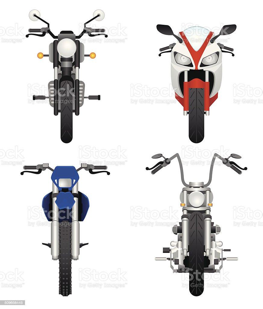 オートバイ frontviews ベクターアートイラスト