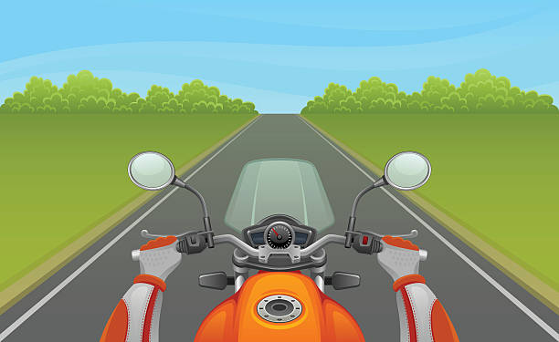 motorcyclist - fahrzeug fahren stock-grafiken, -clipart, -cartoons und -symbole