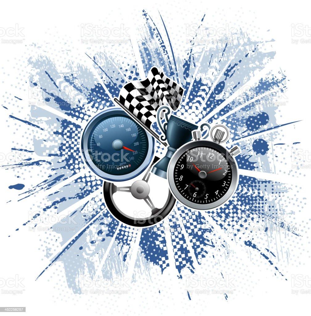 motorized sport backround vector art illustration