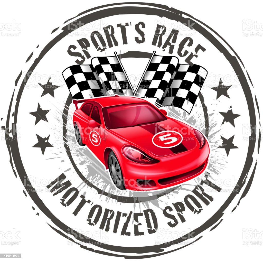 motorized sport shielding vector art illustration