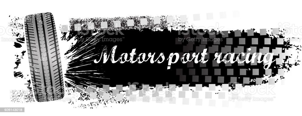 drawing of vector blank motorsport banner.This file was recorded with...