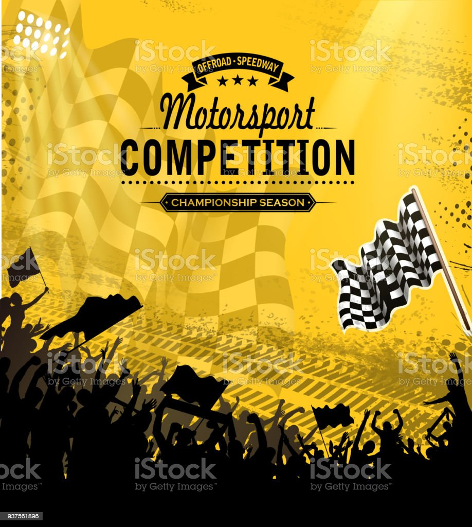 design of vector motorsport competition silhouette.This file was...