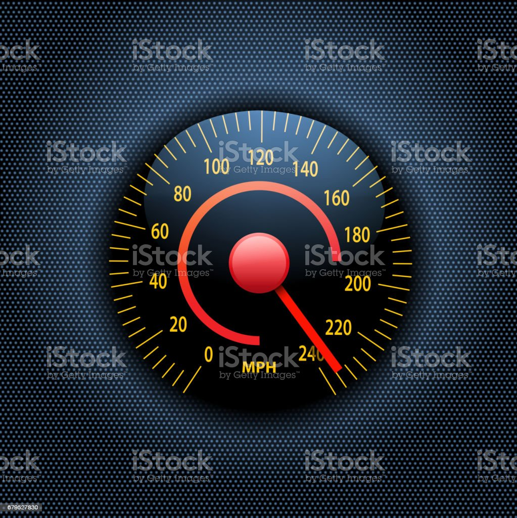 drawn of vector Motorsport dashboard.This file has been used...