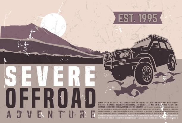 illustrazioni stock, clip art, cartoni animati e icone di tendenza di poster dell'evento motorsport - transport truck tyres