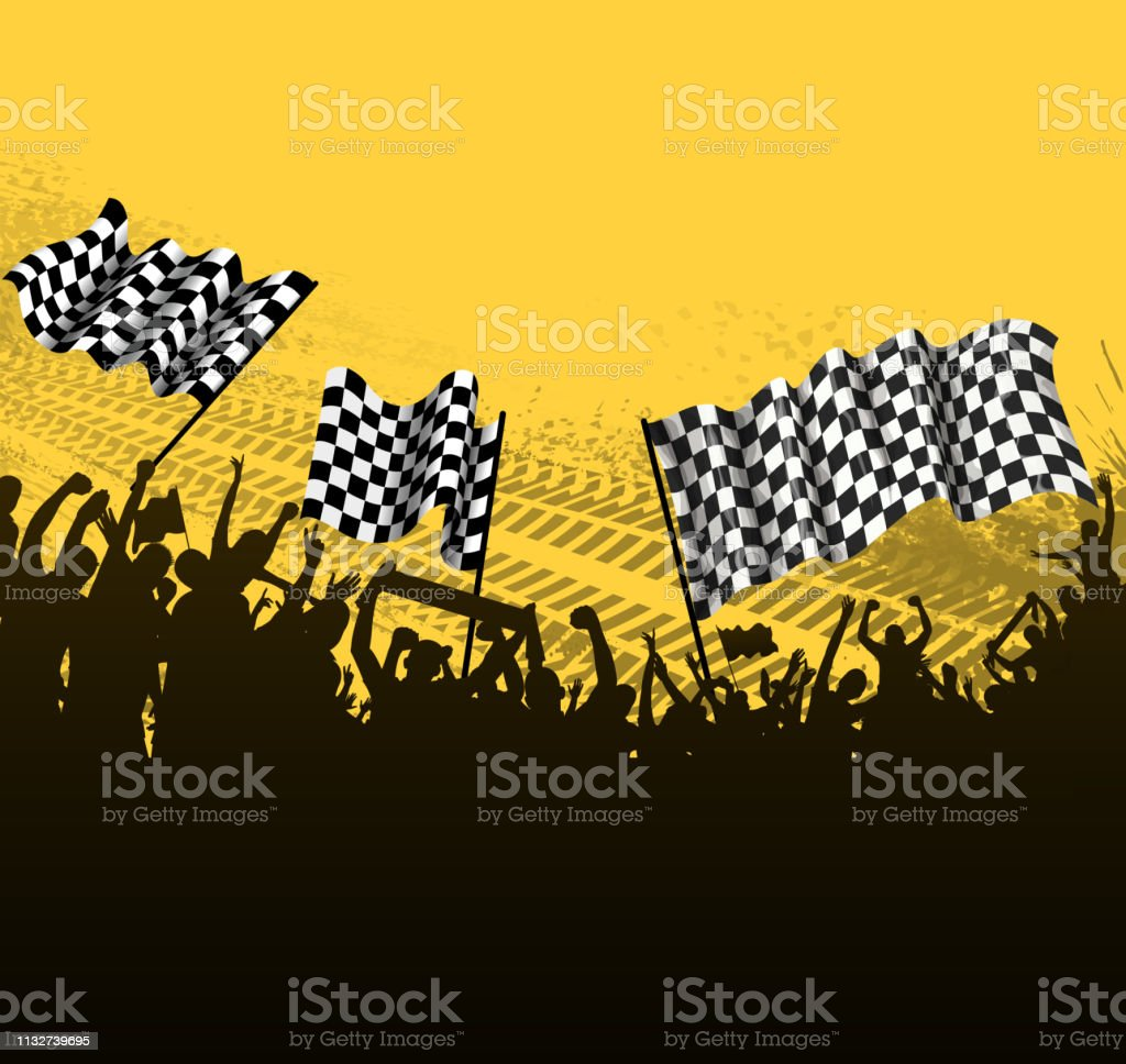drawing of vector motorsport fun silhouette. Created by illustrator...